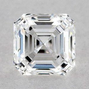 0.50 Carats Asscher Diamond loose I VS1 Very Good